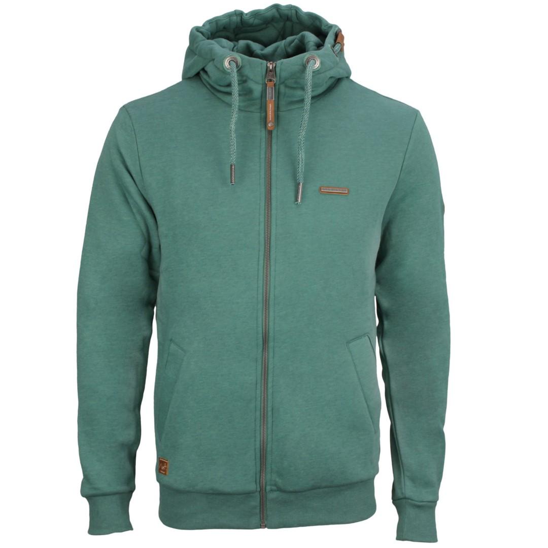 Ragwear Herren Sweat Jacke grün unifarben Nate Zip 2112 30016 5036 dusty green