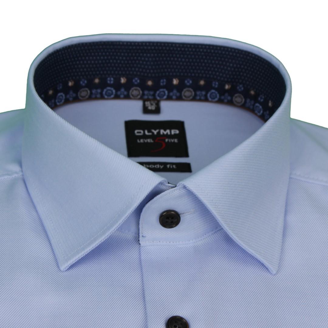 Olymp Herren Body Fit Hemd Level 5 blau unifarben 2142 64 12
