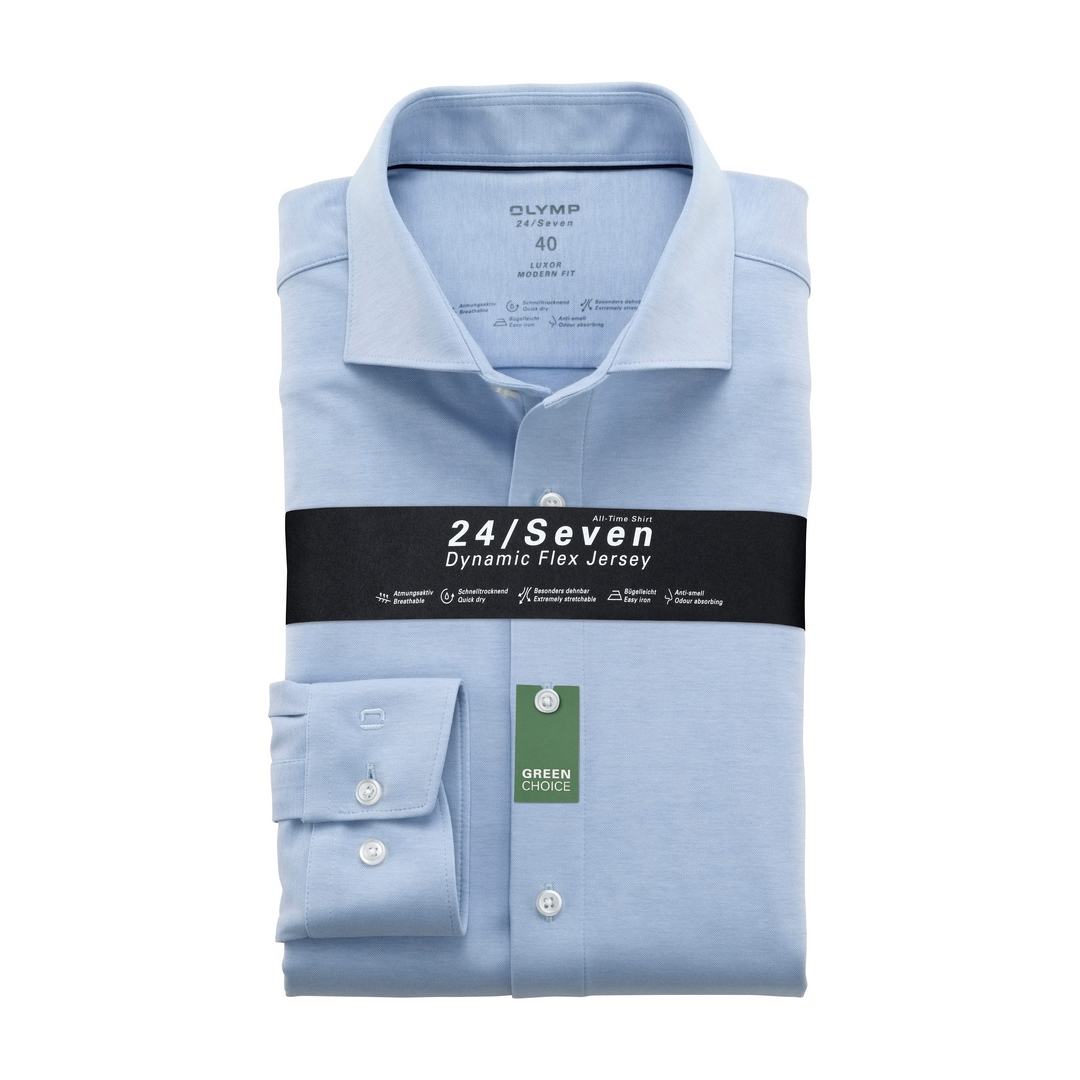 Olymp Luxor 24/Seven Modern Fit  Business Hemd Businesshemd 121084 11 bleu