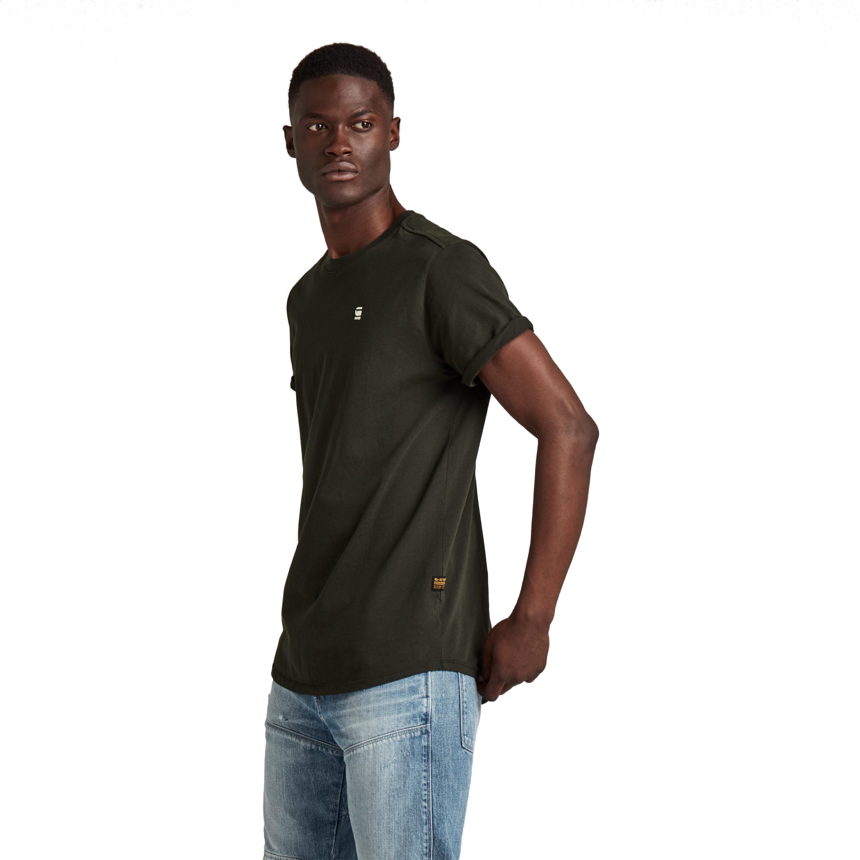 G-Star Raw Herren T-Shirt Shirt kurzarm Lash schwarz unifarben D16396 B353 976 raven