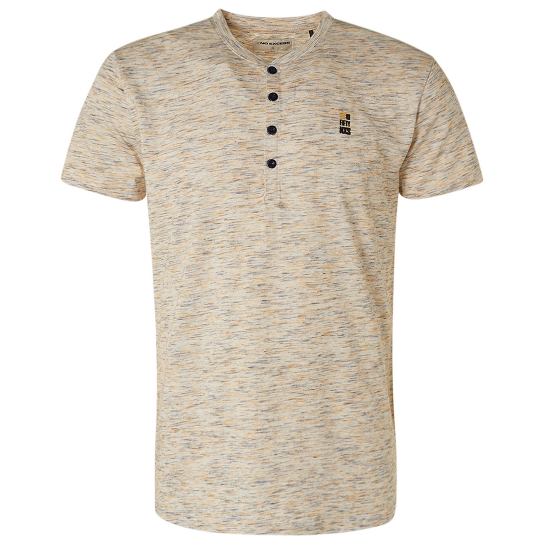 No Excess Herren T-Shirt mehrfarbig meliert 11320354 190 sun