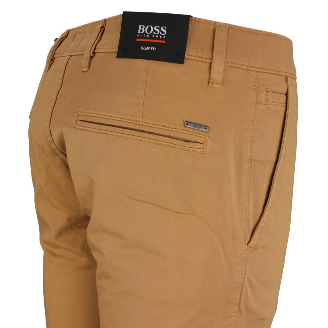 HUGO Boss Herren Chino Hose braun beige unifarben Schino Slim 50379152 262