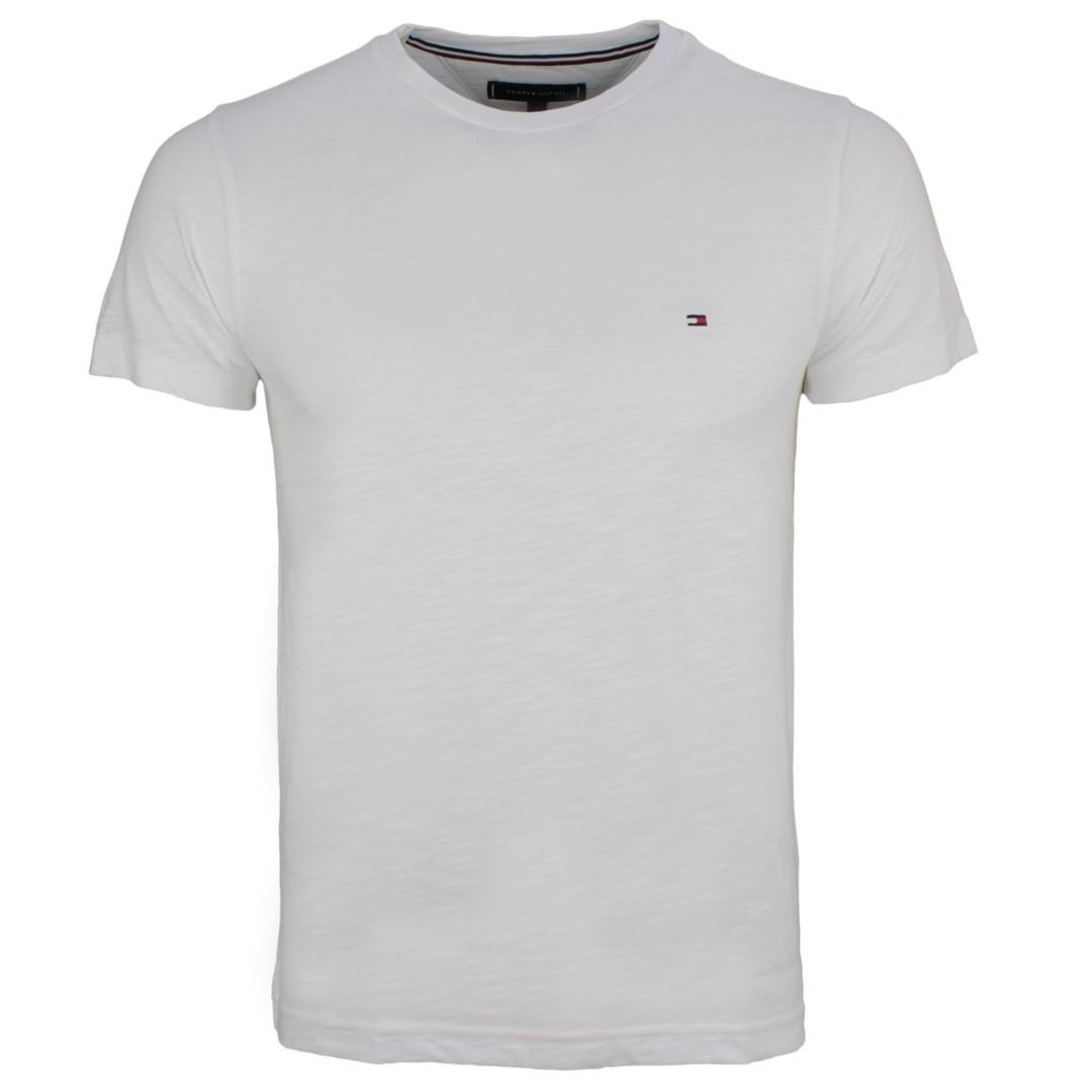 Tommy Hilfiger Herren T-Shirt weiß unifarben MW0MW14983 YBR