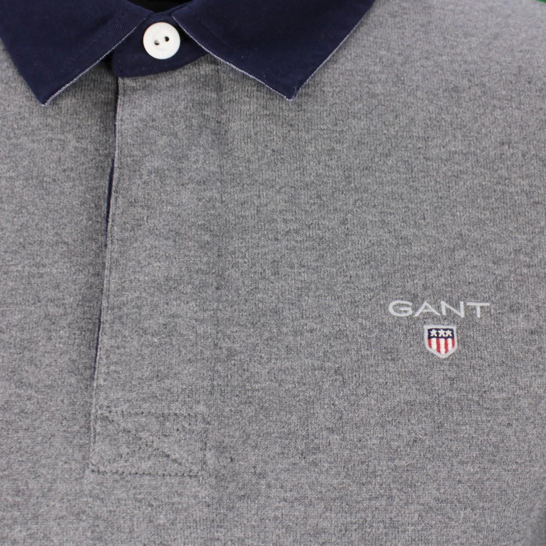 Gant Herren Rugby Shirt The original heavy Rugger grau unifarben 2005050 92 grey
