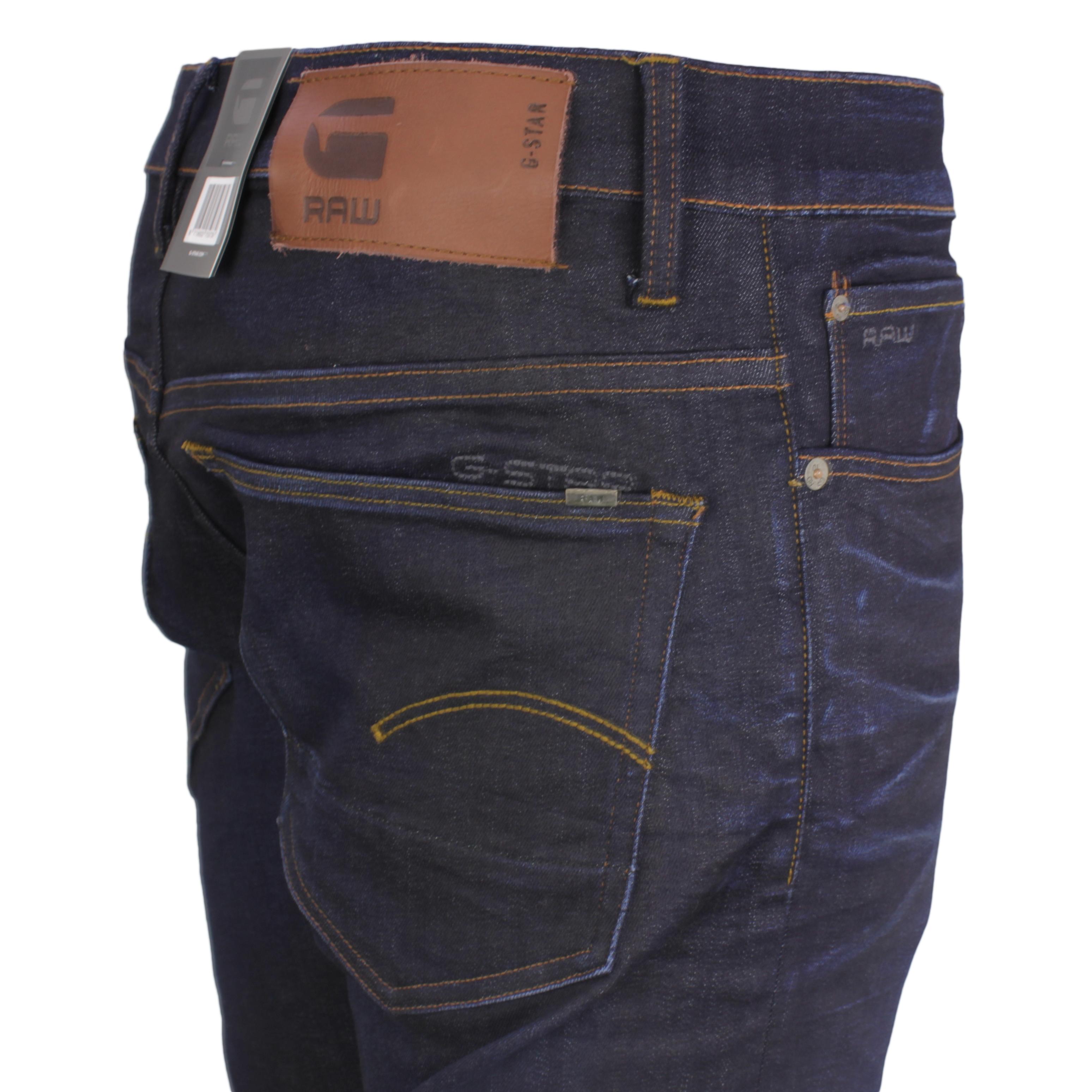 G-Star Herren Jeans Hose Jeanshose 3301 Tapered Fit dark agded dunkel blau 51003 7209 89