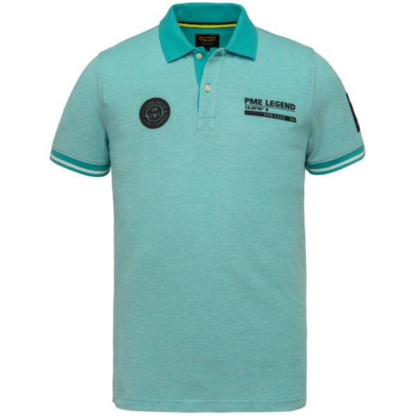 PME Legend Polo Shirt Two Tone Pique blau PPSS214873 5255
