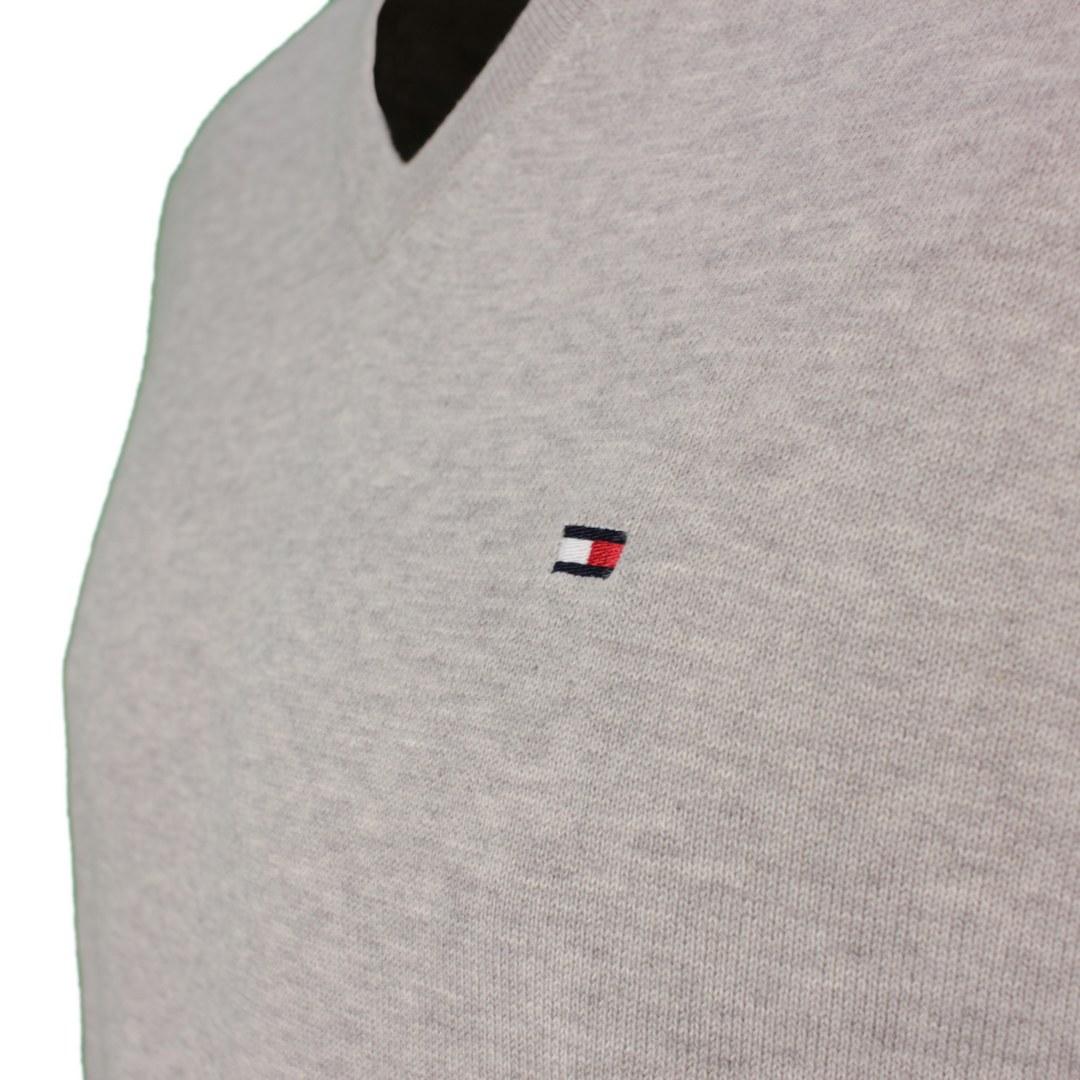 Tommy Hilfiger Herren Strick Pullover Strickpullover Cotton Silk hellgrau MW0MW04979 501 grey