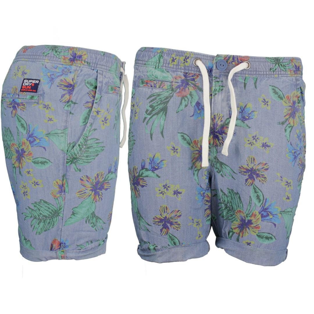 Superdry Herren Short Sunscorched Shorts blau geblümt M7110017A T3Z blue
