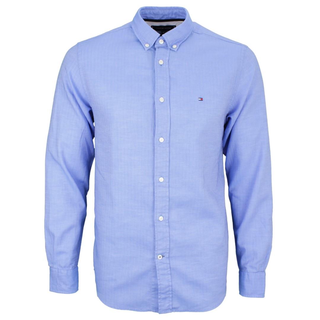 Tommy Hilfiger Herren Hemd blau unifarben MW0MW12158 CI6