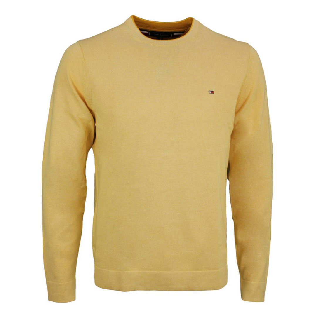 Tommy Hilfiger Strick Pullover Tipped Double gelb MW0MW17349 ZFF Delicate Yellow