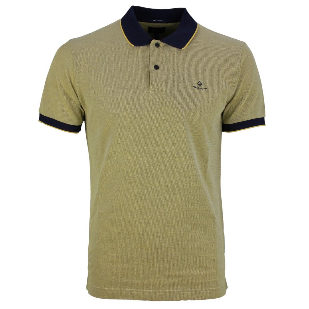 Gant Herren Polo Shirt gelb Strukturiert unifarben 2012012 758