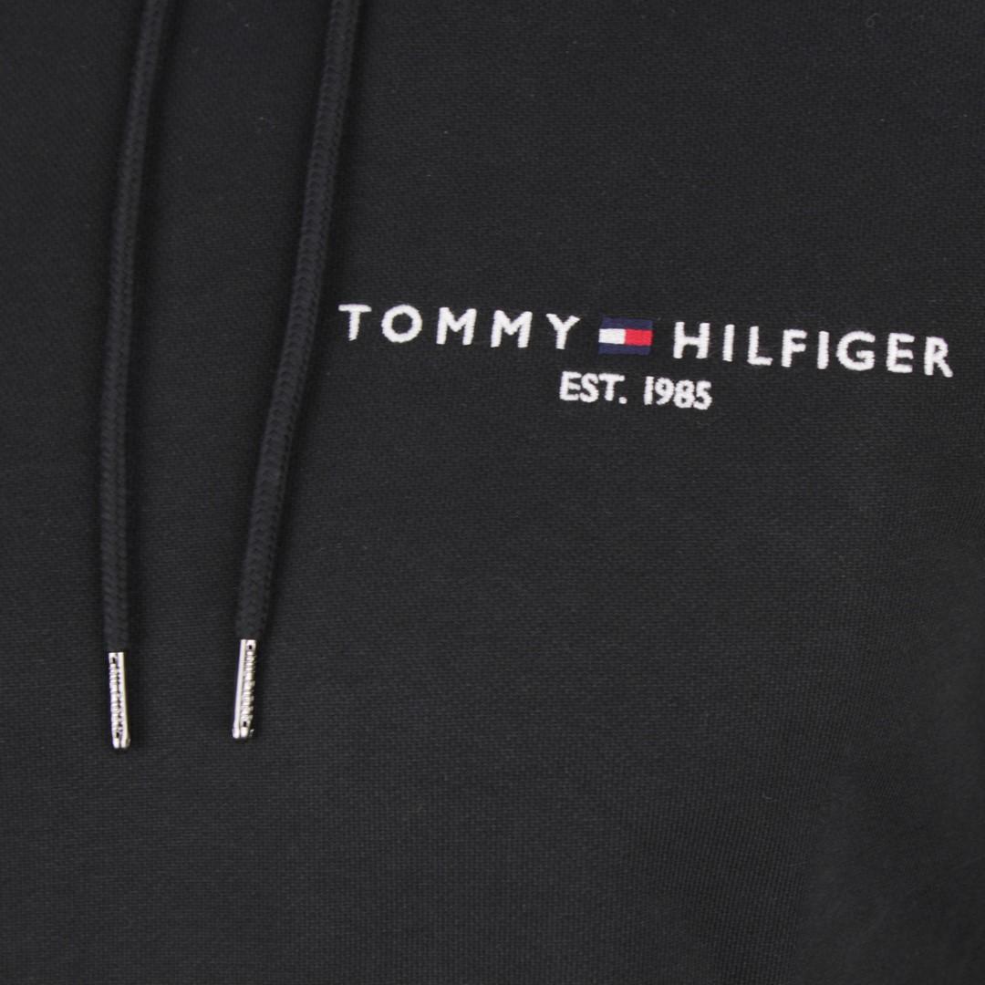 Tommy Hilfiger Herren Hoodie Sweat Kapuzen Pullover schwarz MW0MW15839 BDS