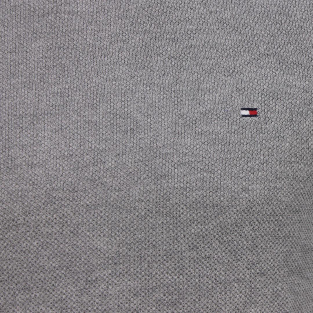 Tommy Hilfiger Herren Strick Pullover grau unifarben MW0MW14416 PGU