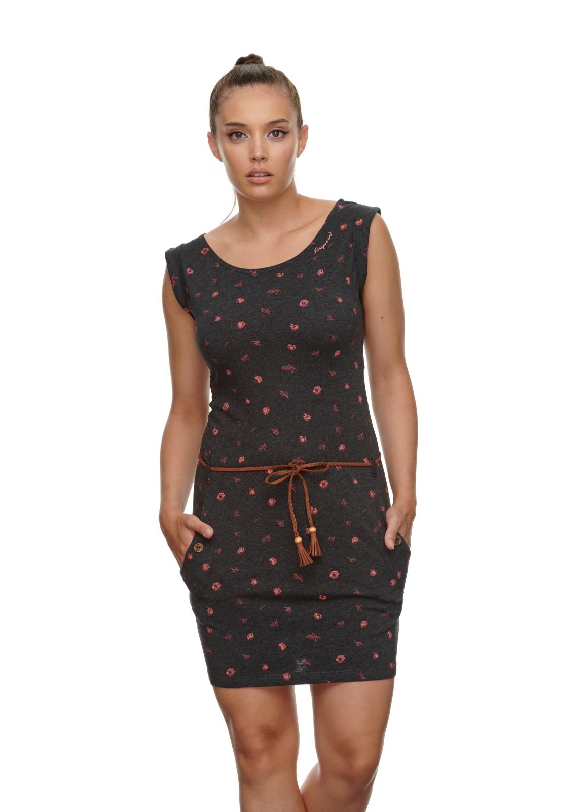 Ragwear Damen Kleid Tag B Organic schwarz rot gemustert 2111 20042 1010 black