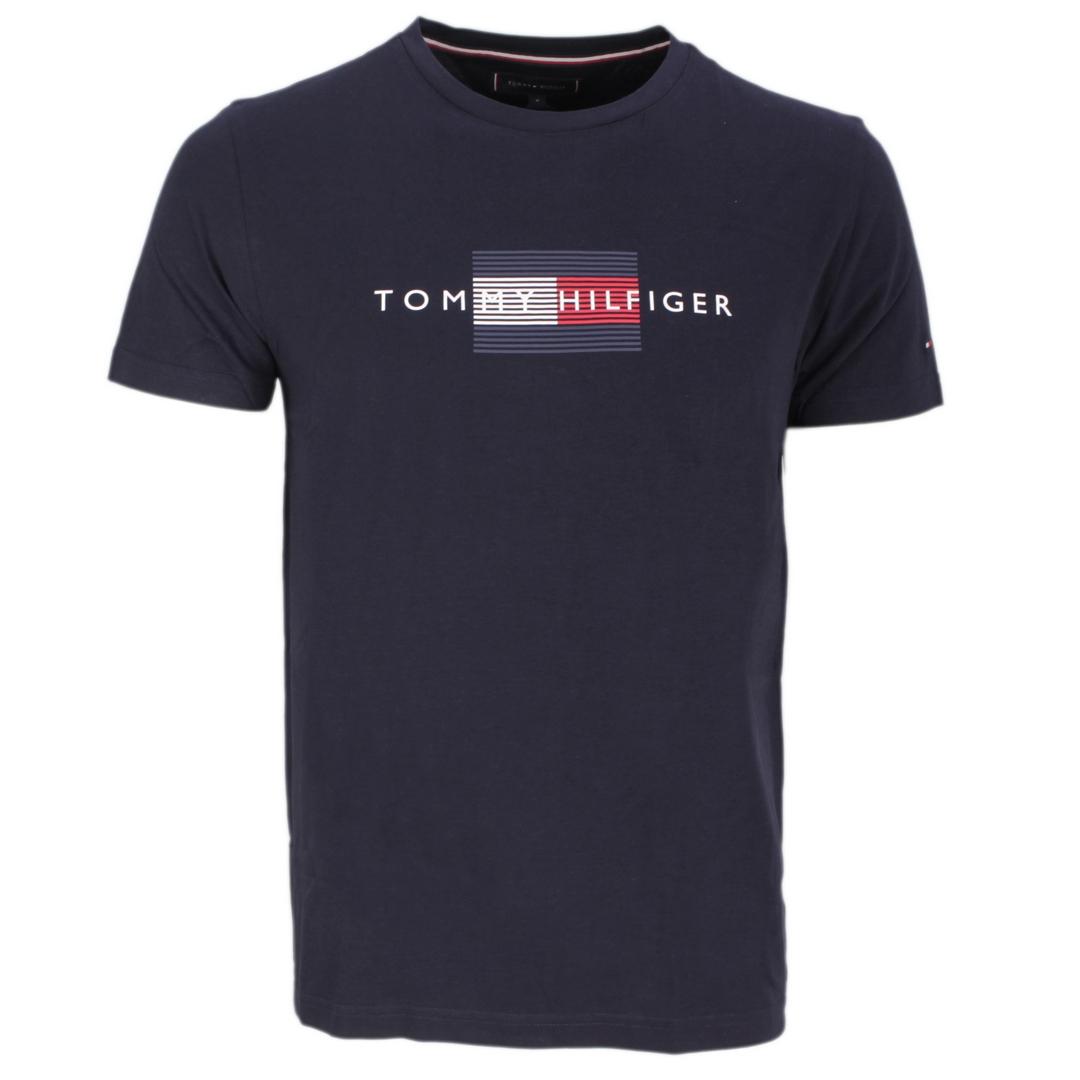 Tommy Hilfiger T-Shirt Shirt kurzarm MW0MW20164 DW5 Desert Sky Lines Hilfiger Tee