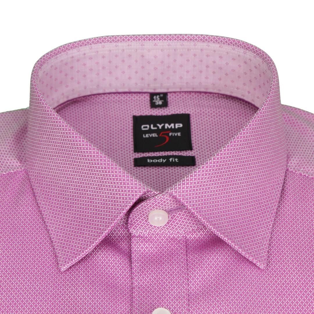 Olymp Hemd Modern Fit Extra langer Arm Pink Minimal Muster 2014 89 95