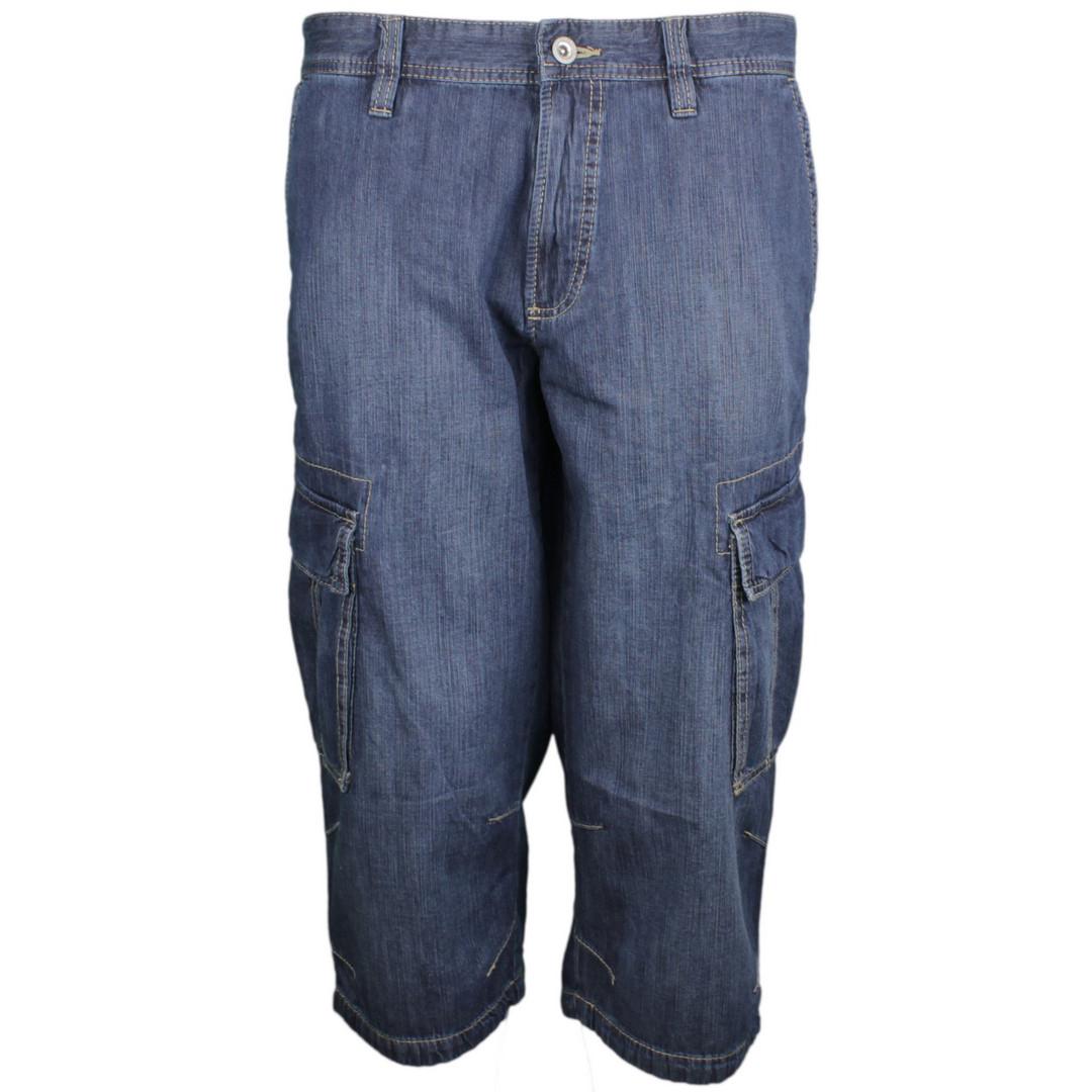 Camel active Herren Jeans Capri Short Houston Denim blau 1R01 496600 45