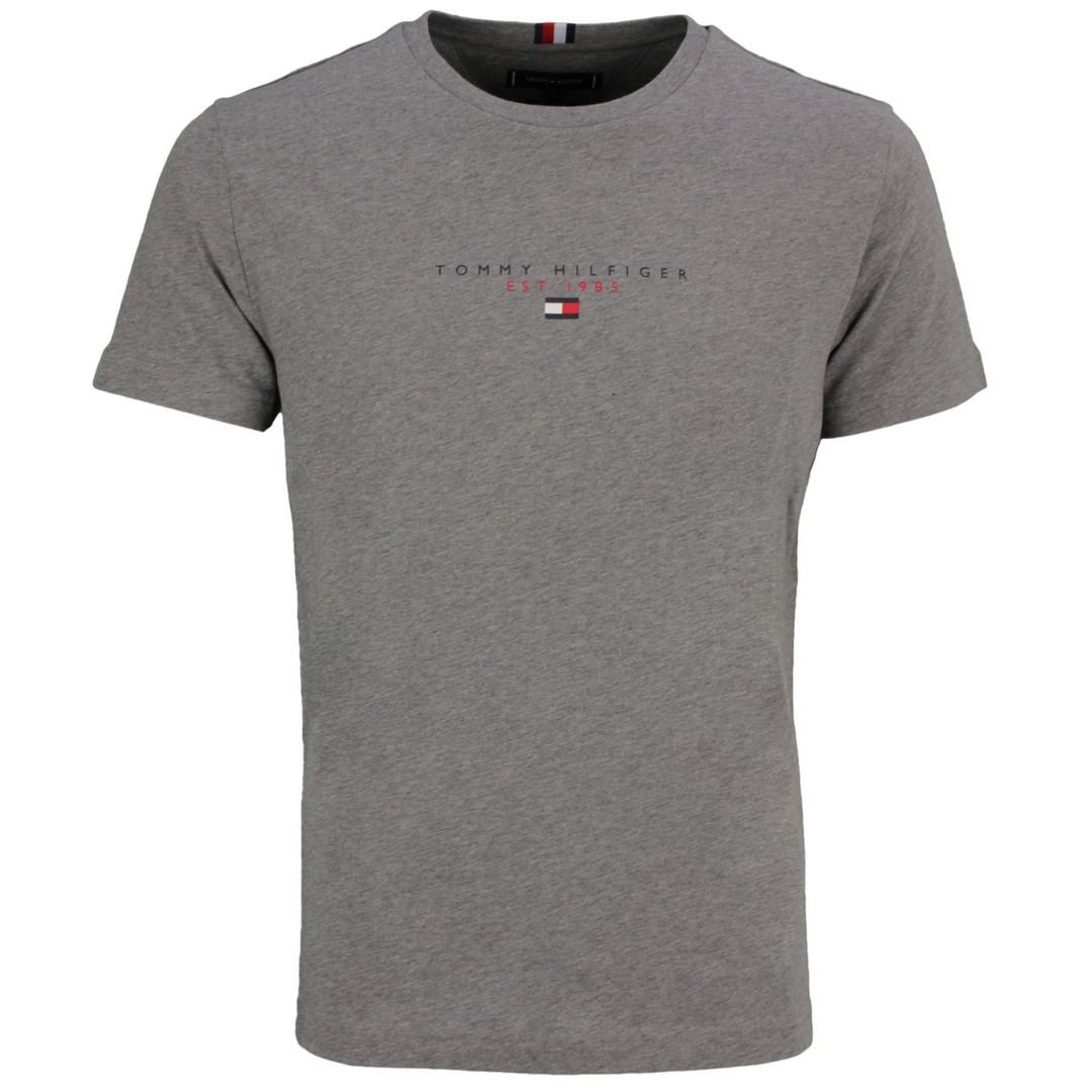 Tommy Hilfiger T-Shirt Shirt kurzarm Essential Tommy Tee grau MW0MW17676 P91 Medium Grey