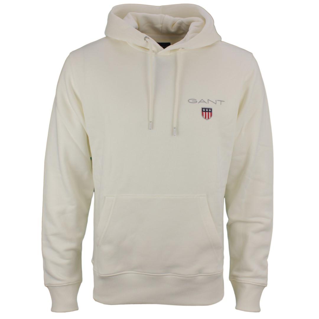 Gant Herren Kapuzen Sweat Pullover Medium Shield Hoodie weiß 2057003 113
