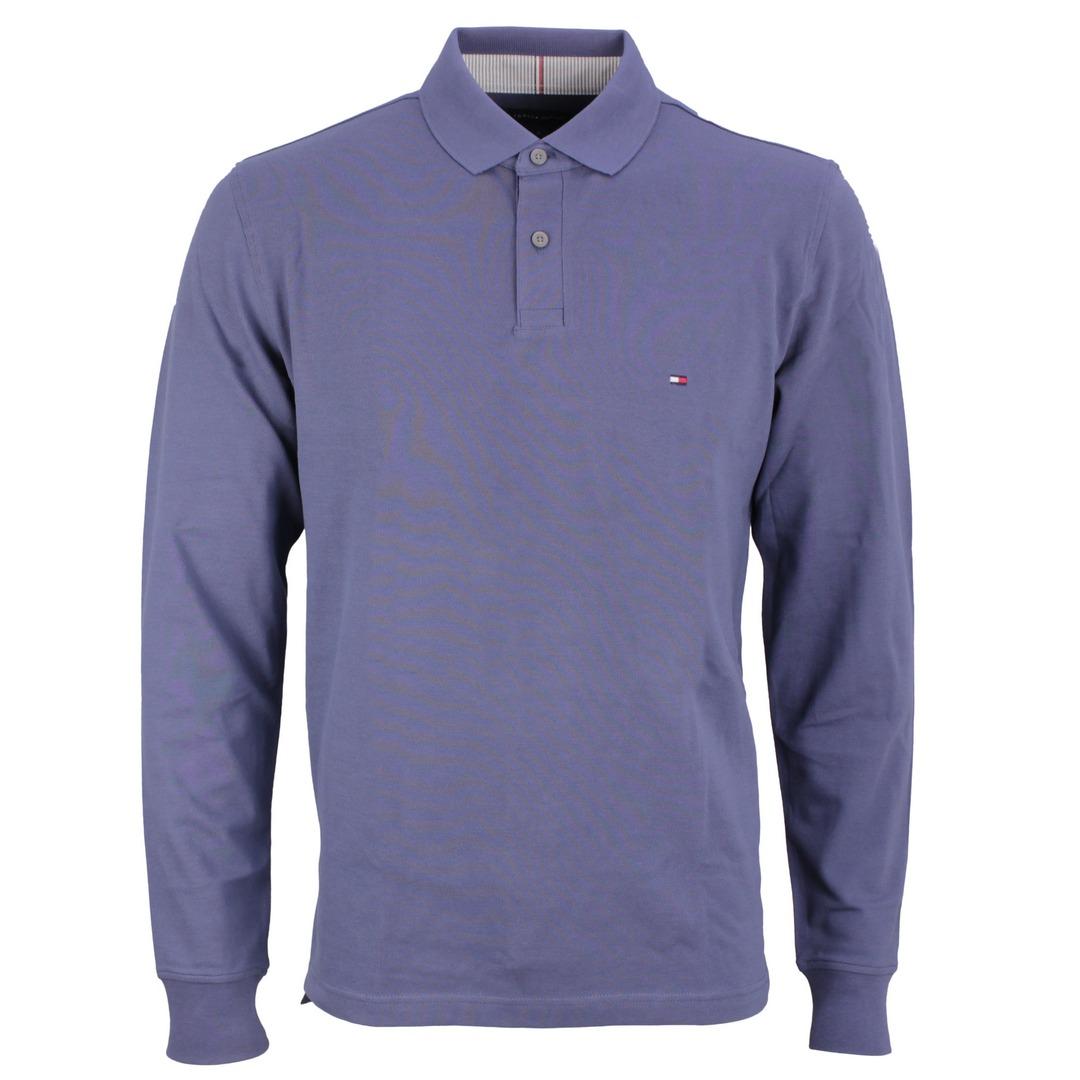 Tommy Hilfiger Langarm Shirt blau MW0MW20183 C9T Blue Faded indigo 1985 Regular LS Polo