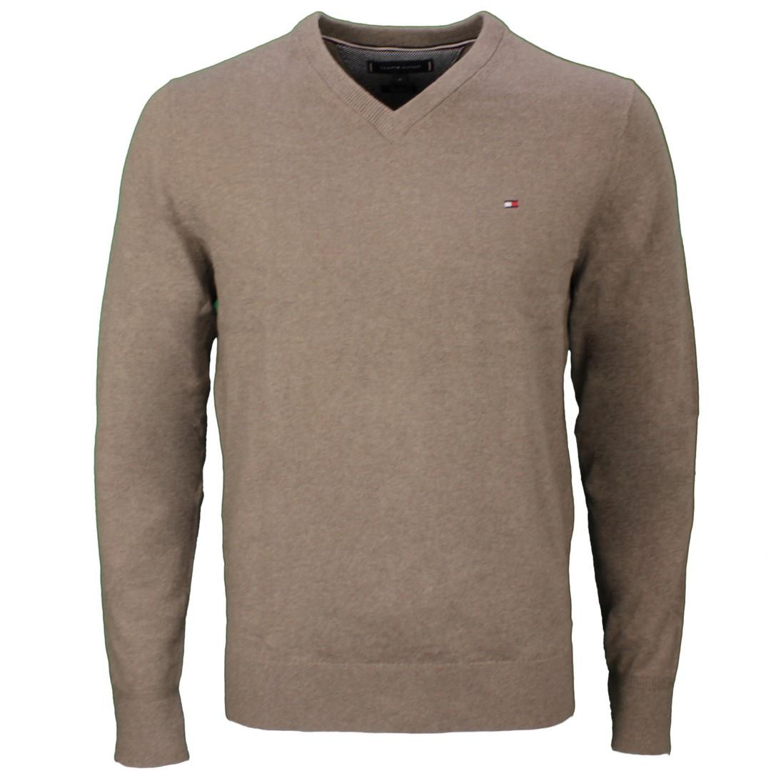 Tommy Hilfiger Herren Strick Pullover Pima Cotton Cashmere beige MW0MW11673 HIM
