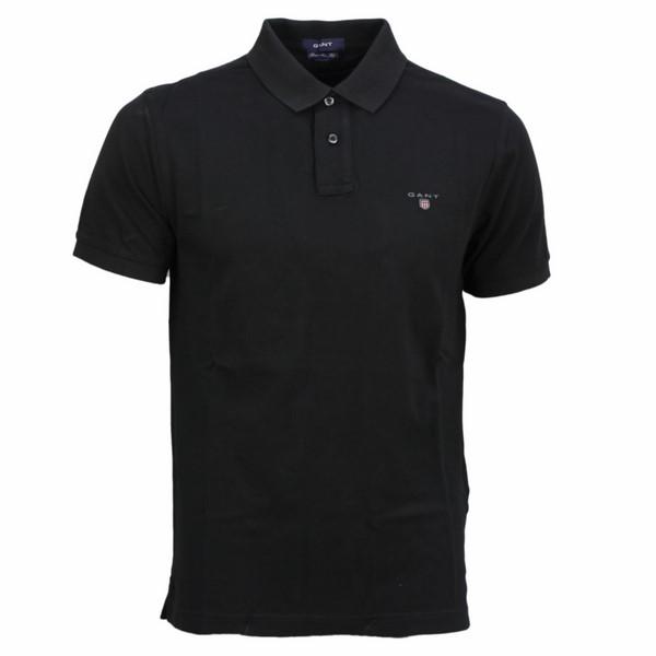 Gant Herren Polo Shirt Piqué Unifarben schwarz 2201 5