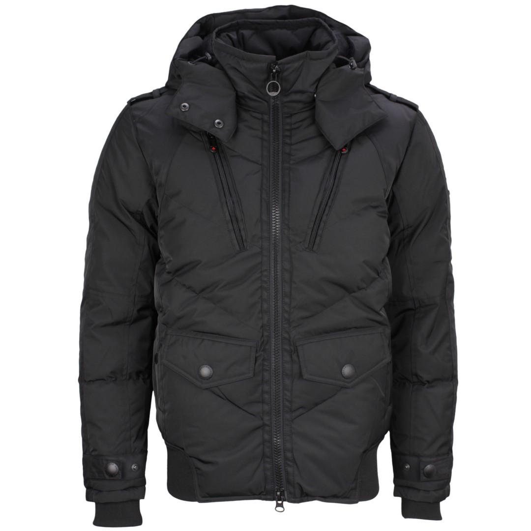 Wellensteyn Herren Winter Jacke Synergy schwarz unifarben SYNE 425 black