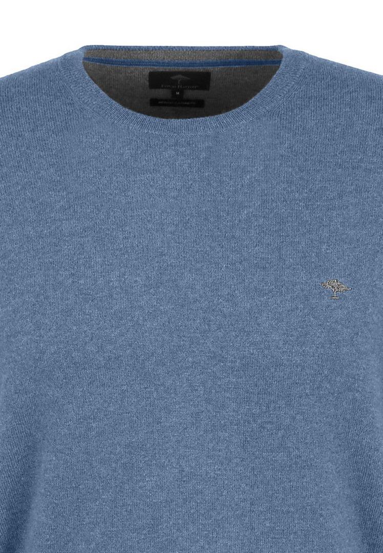Fynch Hatton Herren Strick Pullover Strickpullover Langarm O Neck blau 1221800 618 sky