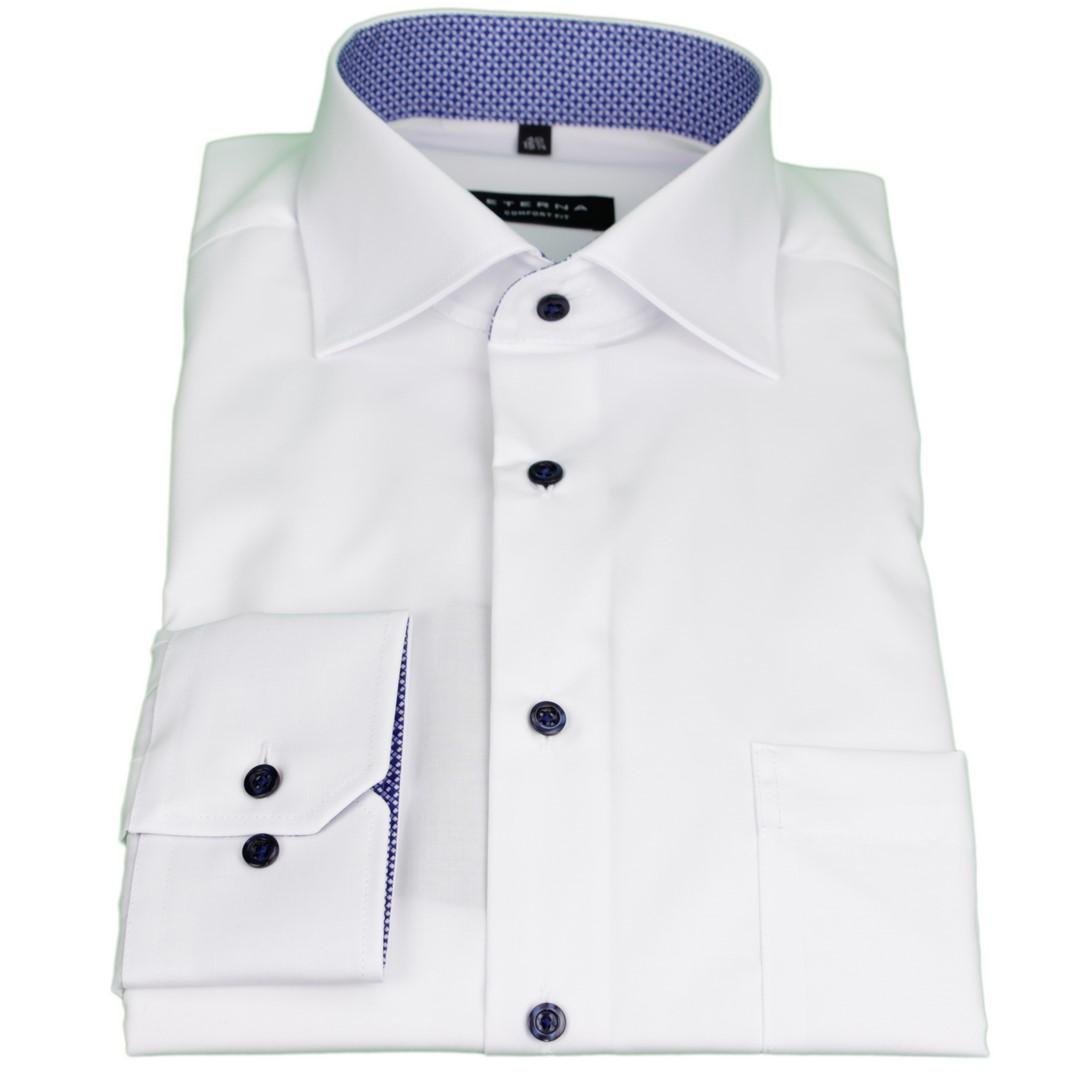 Eterna Herren Hemd Comfort Fit weiß unifarben 3033 E15K 00