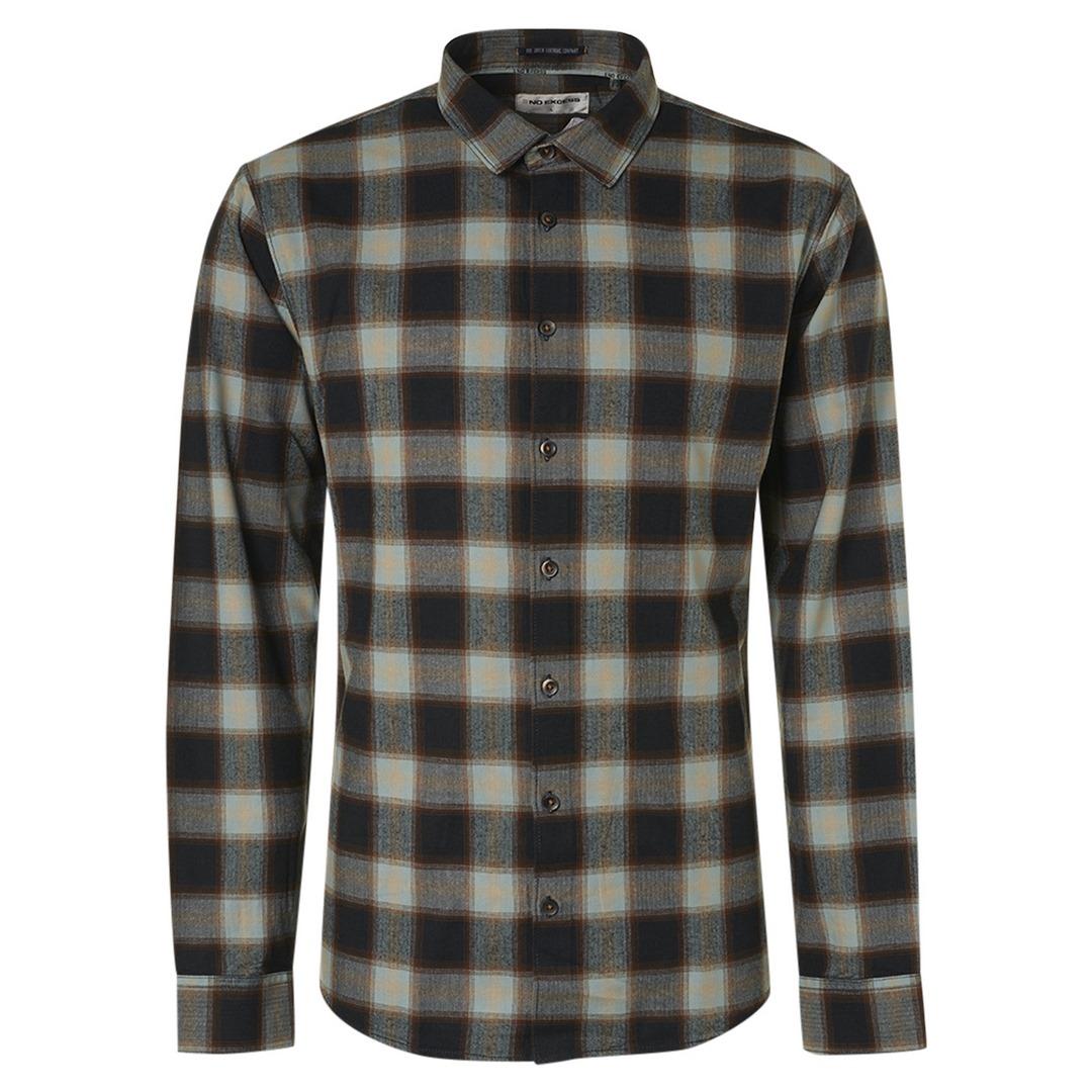 No Excess Flanellhemd kariert 12430815 049 Shirt Flannel Check Herringbone Responsible Choice