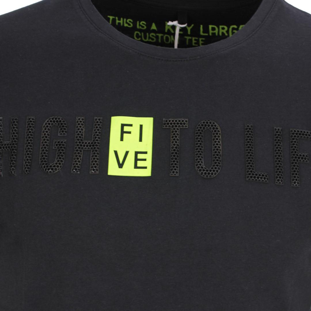 Key Largo Herren T-Shirt Druck schwarz MT HIGH FIVE black