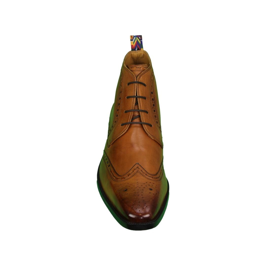 Melvin & Hamilton Herren Schuhe Stiefel Boots braun Jeff 7 Remo Loop cognac