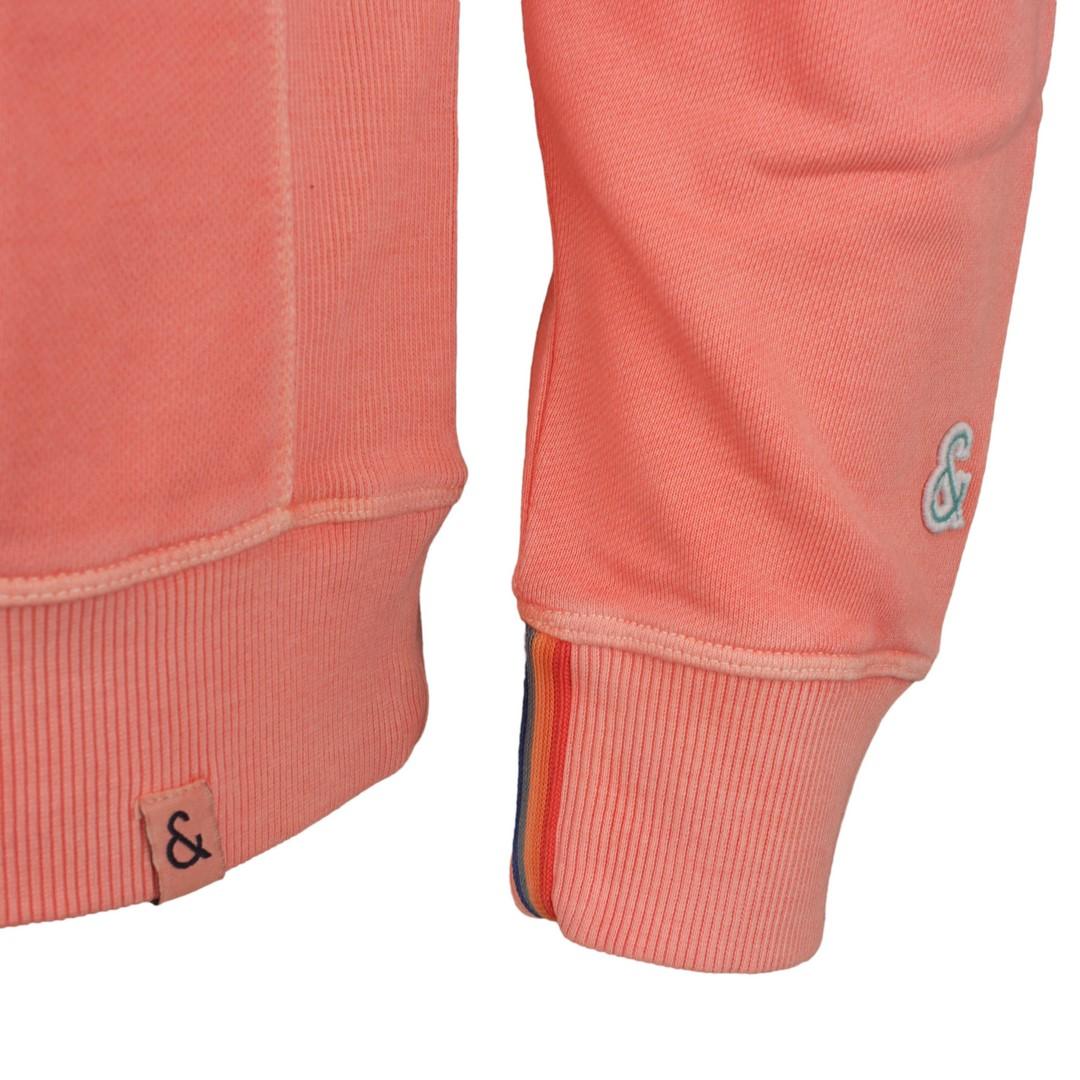 Colours & Sons Herren Sweat Pullover rot unifarben 9121 420 275 Salmon