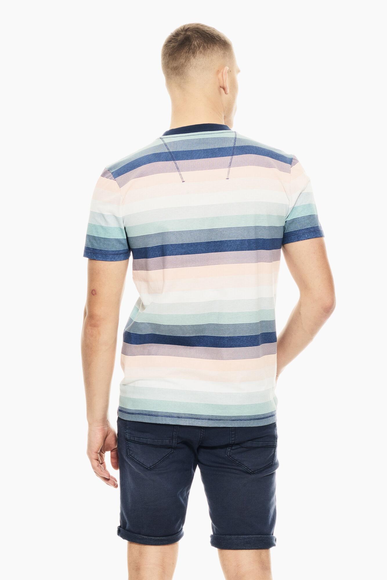 Garcia Herren T-Shirt Shirt kurzarm mehrfarbig gestreift E11005 4962 denim blue