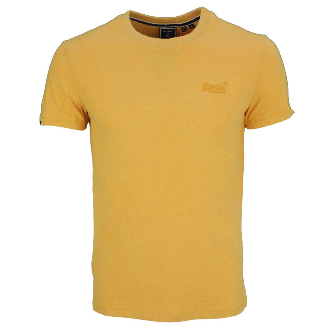 Superdry T-Shirt Rundhals Shirt Vintage Logo Emb Tee gelb uni M1011245A VYR ochre