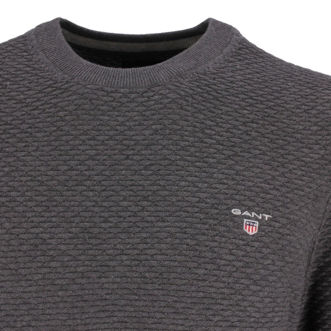 Gant Strick Pullover Strickpullover Rundhals Triangel Texture C-Neck 8030030 95