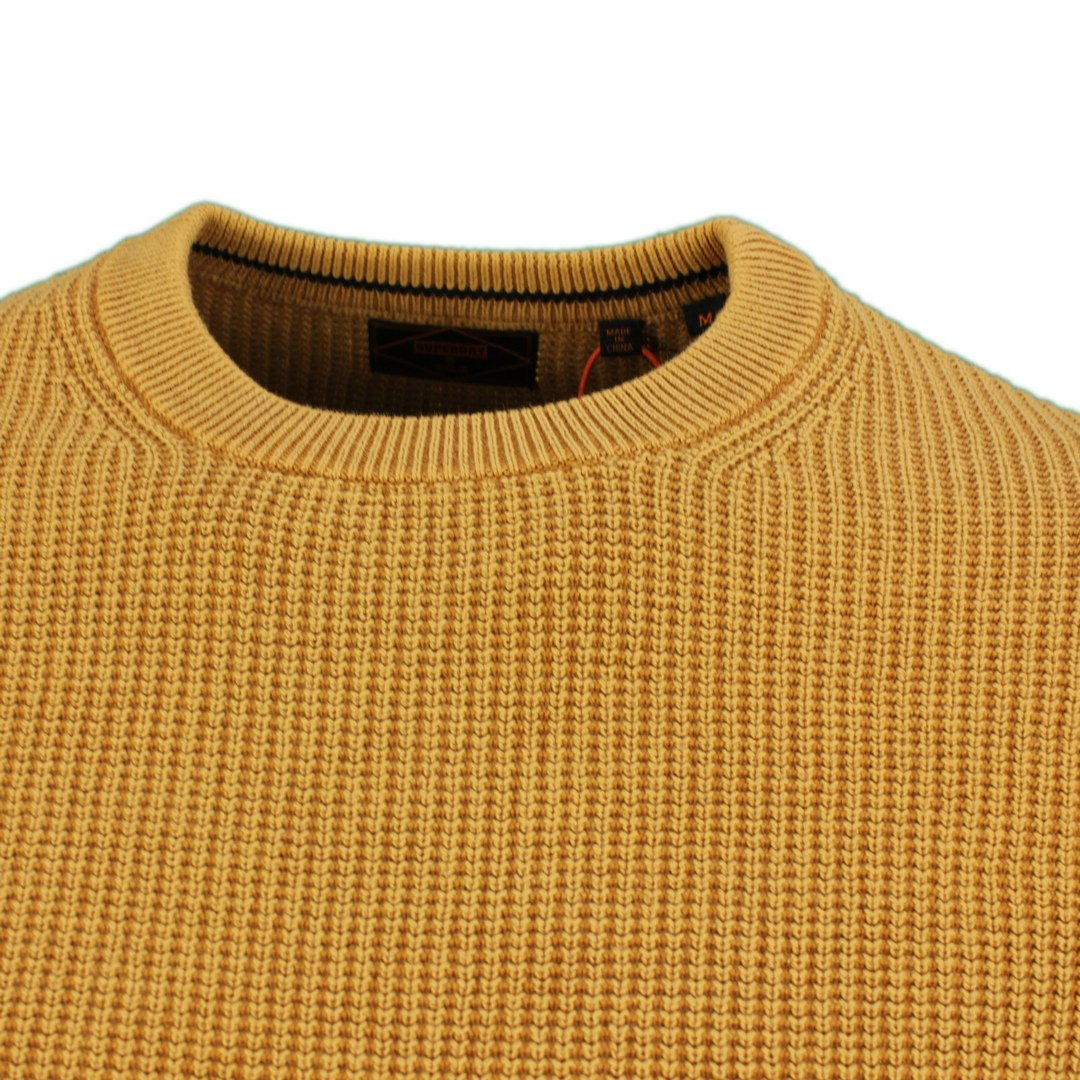 Superdry Strickpullover Pullover Academy Dyed Textured Crew M6110283A 6JP turmeric