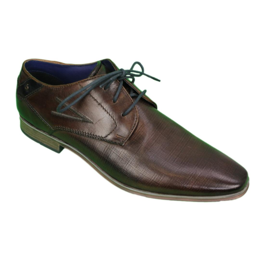 Bugatti Herren Schuhe Schnürschuhe braun 312 4201y 3500 6400 mid brown