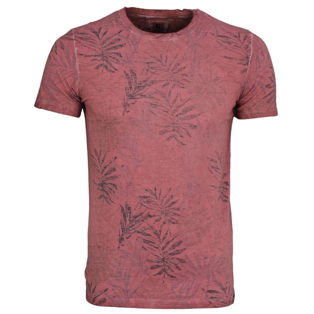 Garcia Herren T-Shirt rot Floraler Print Q01005 4094 dusty rouge