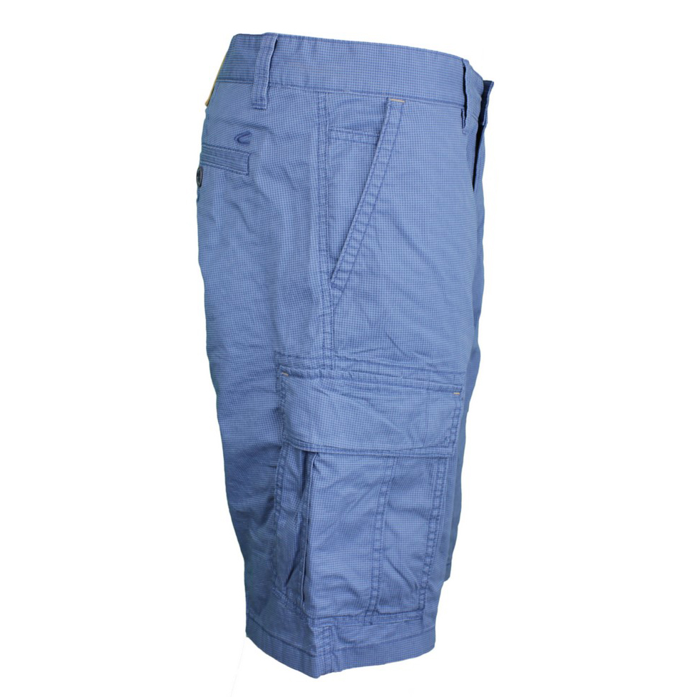 Camel active Herren Cargo Short Houston blau Minimal Muster 7Z83 496350 46