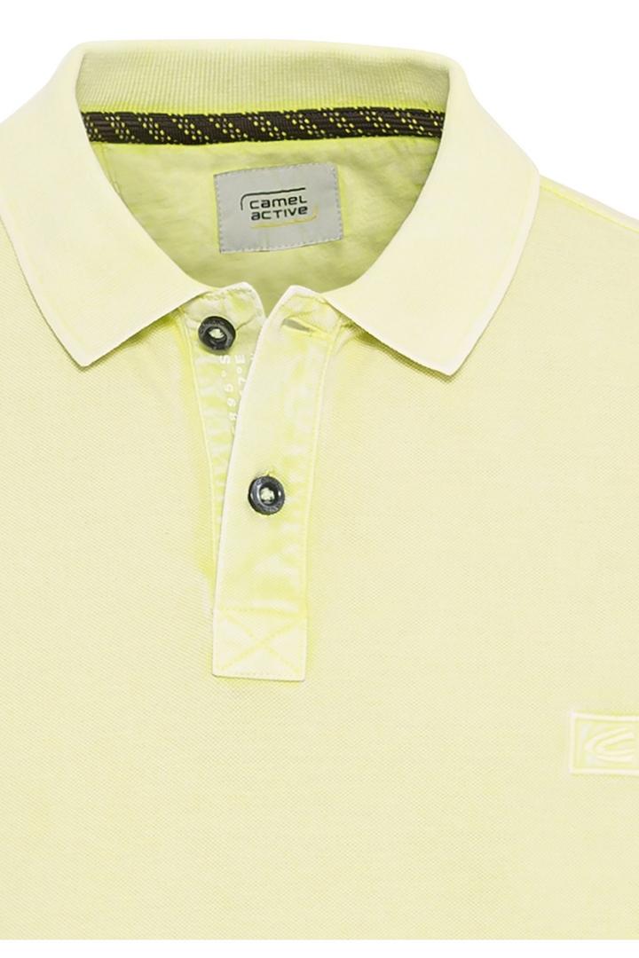 Camel active Herren Polo Shirt gelb unifarben 5P00409460 63