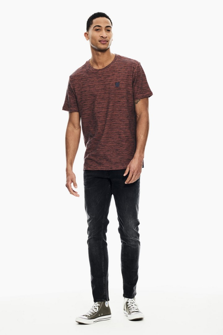 Garcia Herren T-Shirt rot meliert GS110201 1060 nectarine