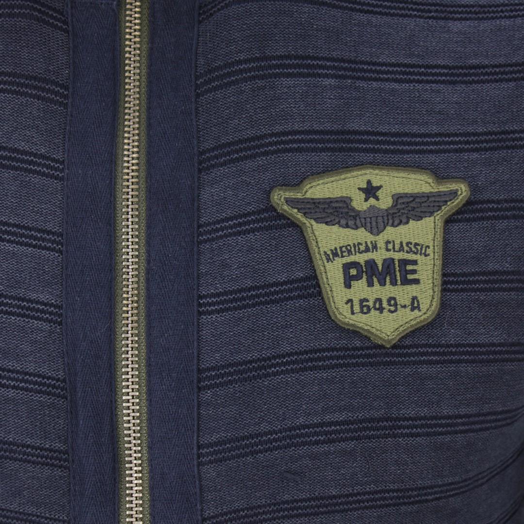 PME Legend Herren Strick Jacke marine blau gestreift PKC191320 5281