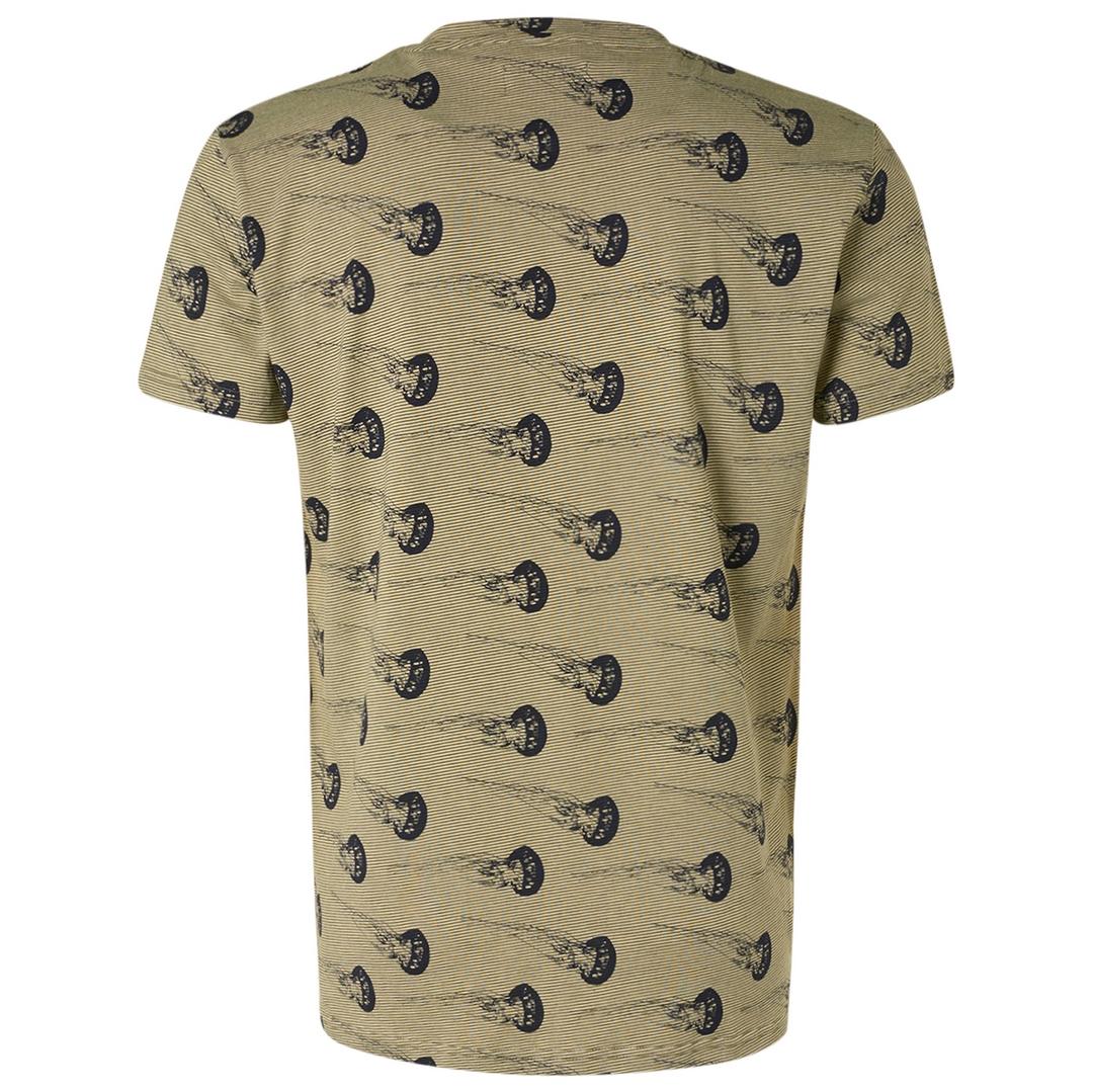 No Excess Herren T-Shirt grün Quallen All Over Print 11320307 050 green