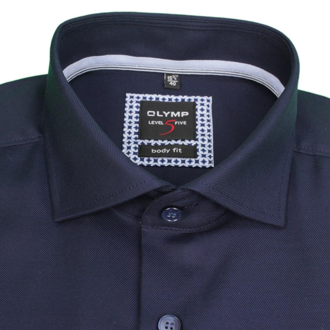 Olymp Level 5 Body Fit Business Hemd Extra langer Arm Langarmhemd 211489 14 nachtblau