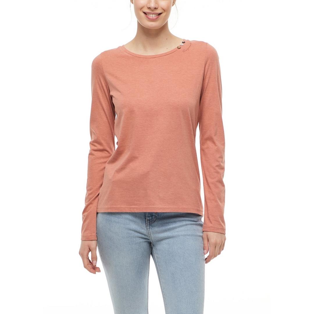 Ragwear Damen Langarmshirt rot Florah Long A Organic 2121 25016 4005 Coral
