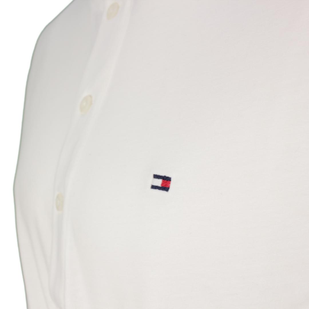 Tommy Hilfiger Herren Langarm Shirt Henley weiß unifarben MW0MW20159 YBL White Ecru Classic Henley
