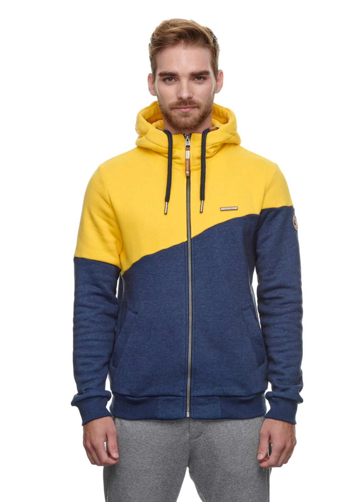 Ragwear Sweat Jacke Vegan gelb blau unifarben Wings Sweat 2112 30020 6028 yellow