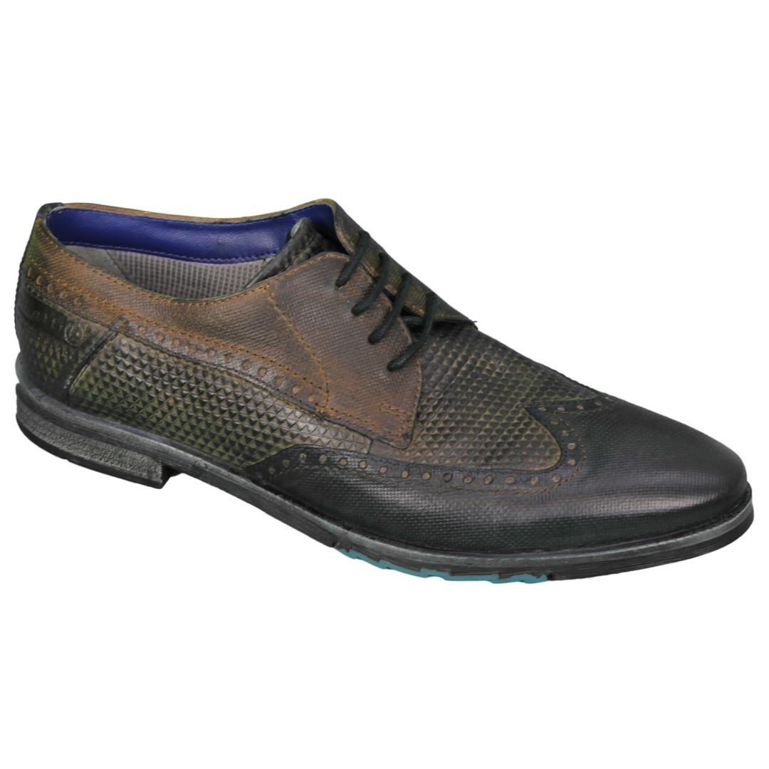 Bugatti Herren Schuhe Schnürschuhe blau 312 53902 3232 4115 blue
