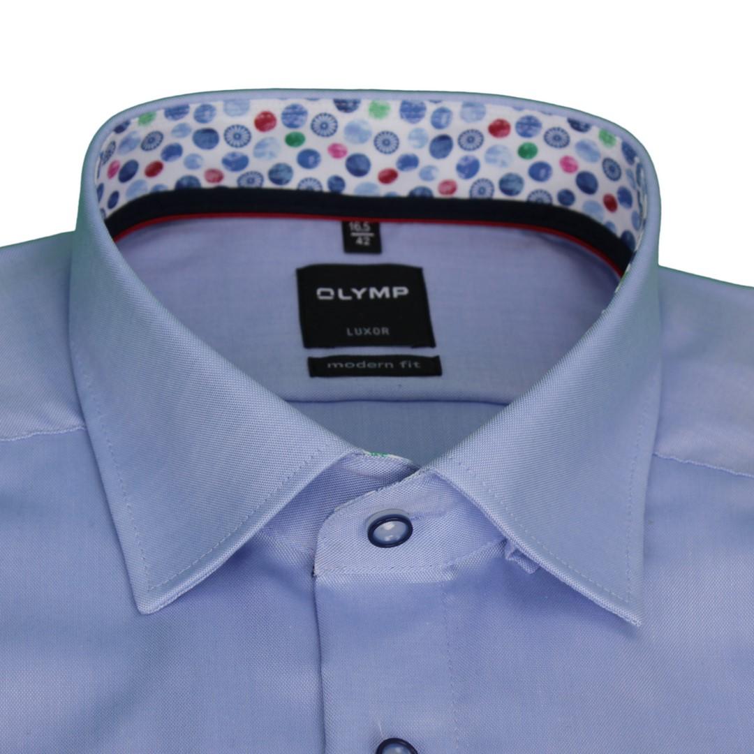 Olymp Herren Hemd Modern Fit blau unifarben 1334 54 12